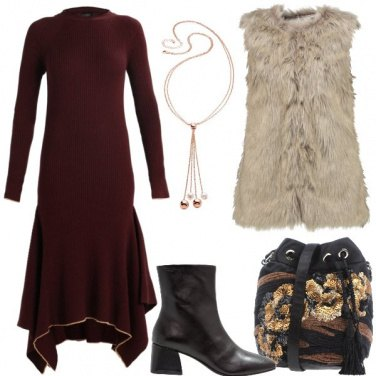 Outfit Vestito con smanicato