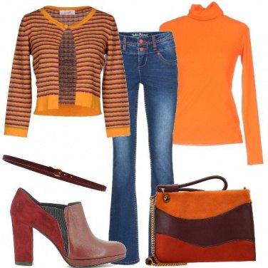 Outfit Arancio tutto il giorno