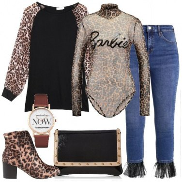 Outfit Tulle e animalier