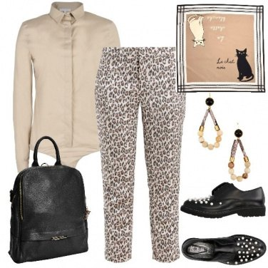 Outfit Animalier sul beige