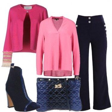 Outfit In rosa e blu