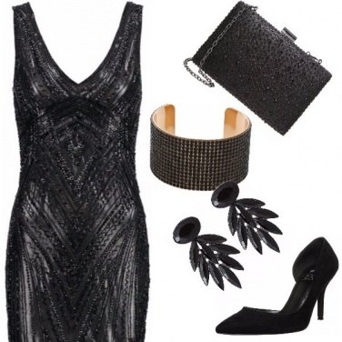 Outfit Total black party