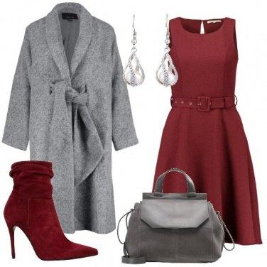 Outfit Cappotto grigio misto lana