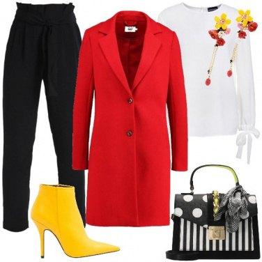 Outfit L\'energia del rosso e del giallo