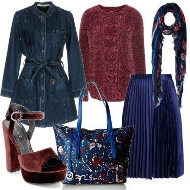 Outfit Il cappotto in denim