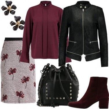 Outfit Fiori e borchie nel quotidiano