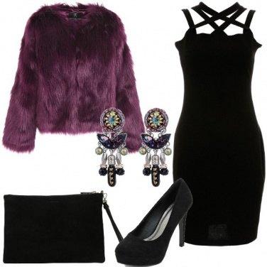Outfit Tubino nero per la festa