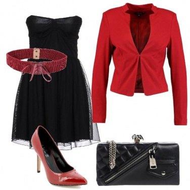 Outfit Sexy in rosso e nero