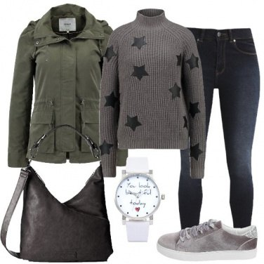 Outfit Stelle sul maglione