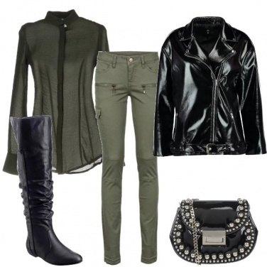 Outfit Biker nero