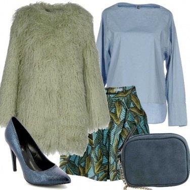 Outfit Azzurro e verde