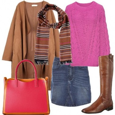 Outfit Fucsia e marrone si può