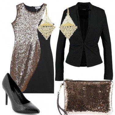 Outfit Tubino con paillettes