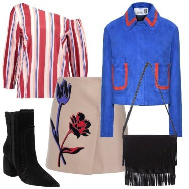 Outfit La borsa con le frange