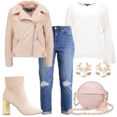 Outfit Chiodo rosa