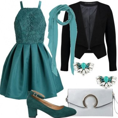 Outfit Un Cocktail in verde