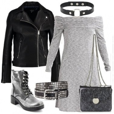 Outfit Gli stivaletti metallizzati