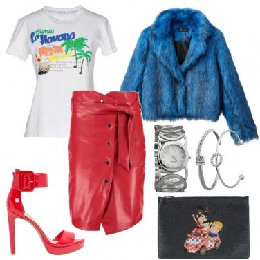 Outfit Rosso in discoteca