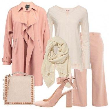 Outfit Rosa e panna