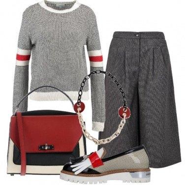 Outfit Bianco, rosso e nero