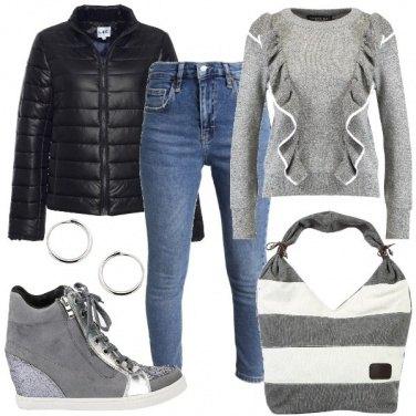 Outfit Il maglione con le rouches