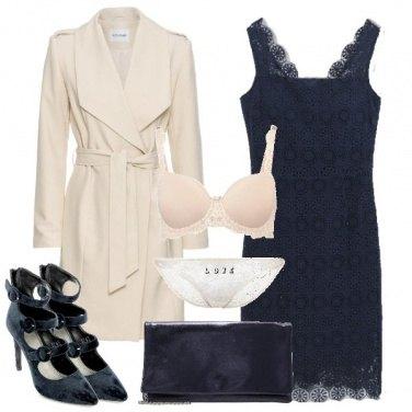 Outfit Blu e nude