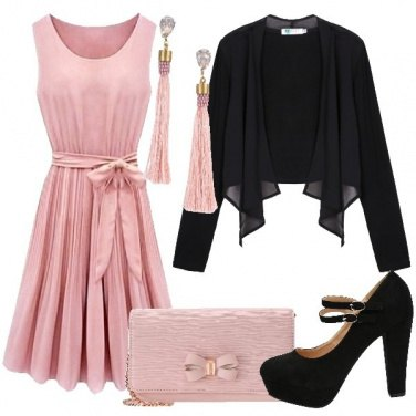 Outfit Incantevole in rosa
