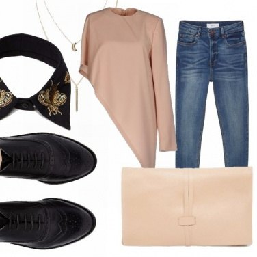 Outfit Asimmetrie: office to party