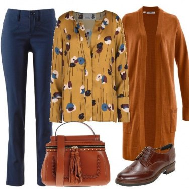 Outfit Brogue e cardigan