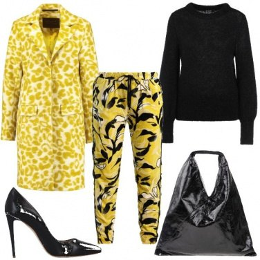 Outfit Il cappotto giallo