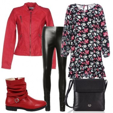 Outfit Rosso rock