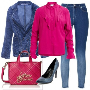 Outfit I jeans sfumati