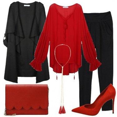 Outfit Le décolleté rosse