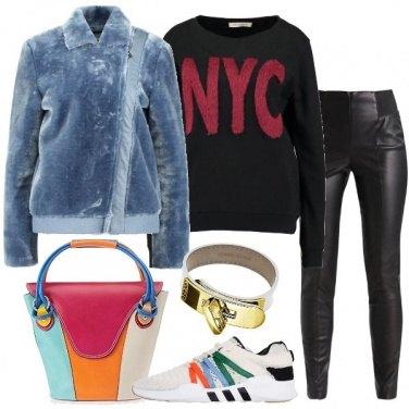 Outfit Nero e colore