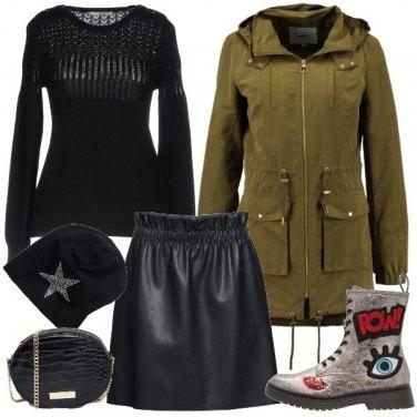 Outfit Urban con la mini in ecopelle