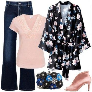 Outfit La camicia kimono