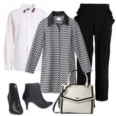Outfit Il cappotto con motivo jacquard