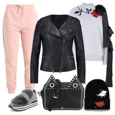 Outfit Sneakers ecopelliccia