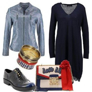 Outfit Accessori in rosso e blu