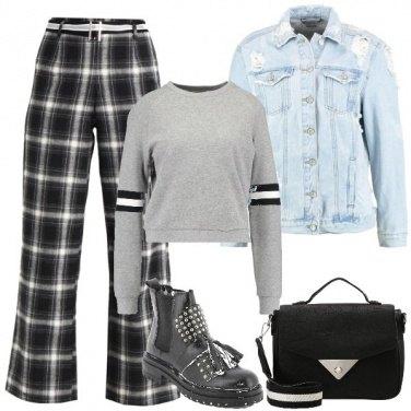 Outfit La felpa grigia