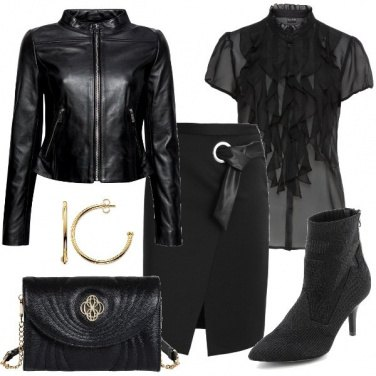 Outfit Total black sexy