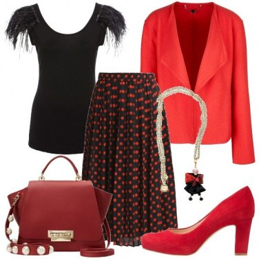 Outfit Una gonna a pois