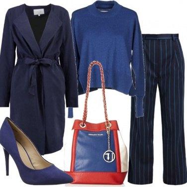Outfit Gessato blu