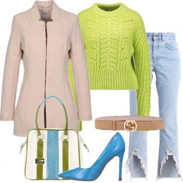 Outfit Colori e cintura griffata