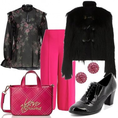 Outfit In ecopelliccia