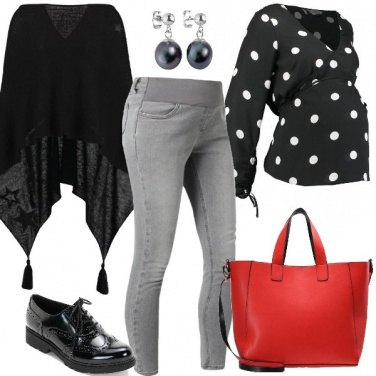 Outfit Una mamma a pois