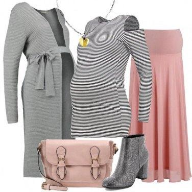 Outfit La gonna lunga rosa
