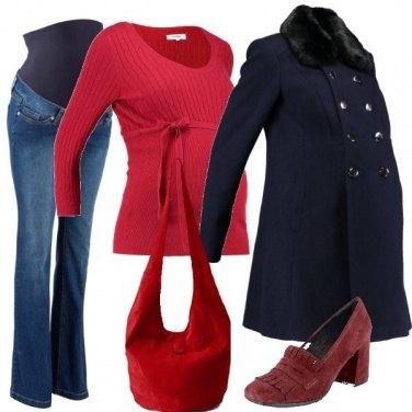 Outfit Mocassini e borsa in spalla