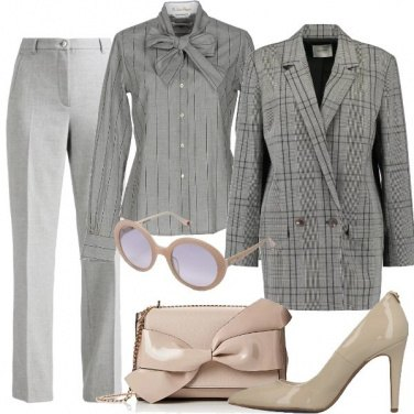 Outfit Mix and Match in grigio