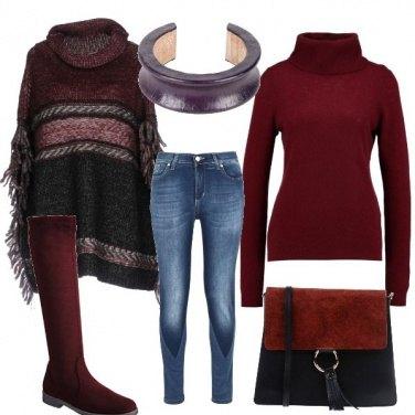 Outfit Bordeaux per me